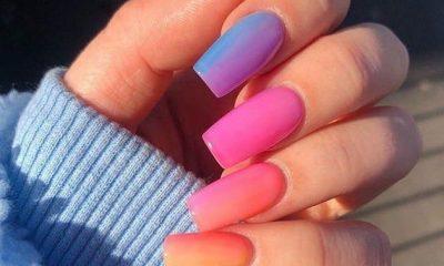 diseño de uñas ombré